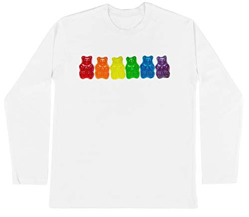 Regenboog Van Gummi Deliciousness Unisex Kinder Jongens Meisjes Lange Mouwen T-shirt Wit Unisex Kids Boys Girls's Long Sleeves T-Shirt White