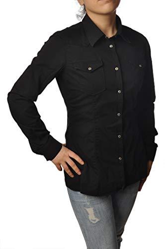 DONDUP Hemd Western aus Denim Stretch schwarz C515CS0103D tg, Schwarz 42