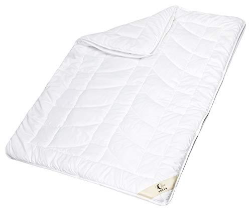 Moon-Trend 4 Jahreszeiten Bettdecke 140x200 cm Bettdecke mit hochwertiger Körpersteppung Decke Winter Sommer 95° waschbar
