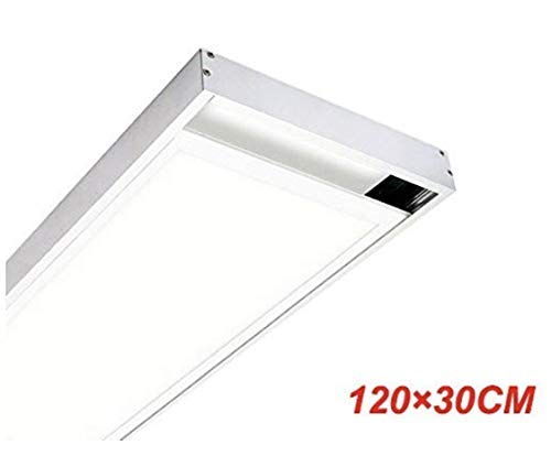 KIT Superficie Para Instalacion de Panel LED 120x30 cm. Lacado Blanco.