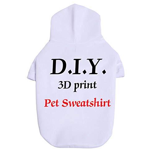 KKDIY Camiseta de Perro Personalizada con Estampado 3D de Moda, Sudadera para Perro Mascota, diseño Personalizado para triangulación de envíos y Venta al por Mayor S-6XL para Perros Grandes