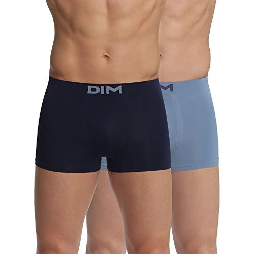 Unno DIM Basic Herren Sin Costuras Micro Boxershorts, Blau (Cowboyblau/Dunkelblau 8nl), X-Large