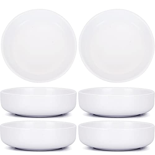 VanEnjoy Set of 6-3.5 Inch Simple Porcelain Ceramic Side Dish Bowl Seasoning Dishes Soy Dipping Sauce Dishes, Single Solid Color Pattern