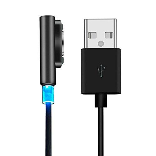 Zolimx magnetico cavo di ricarica W/LED per Sony Xperia Z3L55t Z2Z1Compact XL39h