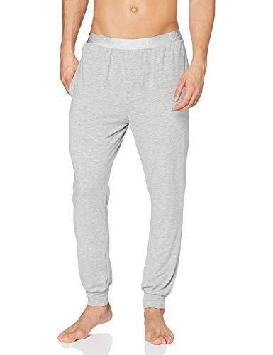 Calvin Klein Jogger Pantalón de Pijama, Grey Heather, XL Unisex Adulto