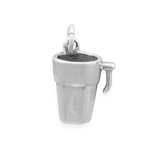 oxidiert Sterling Silber 9mm x 18mm TO GO Kaffee Becher Charme
