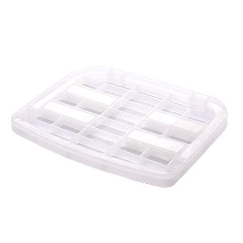 DJY-JY Placa rack rack disco de resina antideslizante Plato de almacenamiento en rack rack de verduras de drenaje Alimentación Cocina desagüe del cajón Organizador (Color: claro, Tamaño: 26 * 21.2 * l