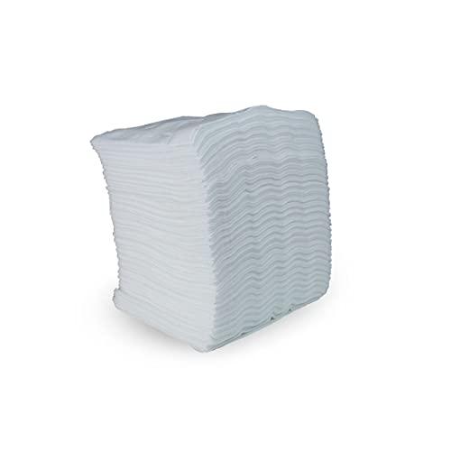 SUMICEL - Toallas Desechables Spun-Lace para peluquería y estética. Color Blanco (100, 30 x 40 cm)