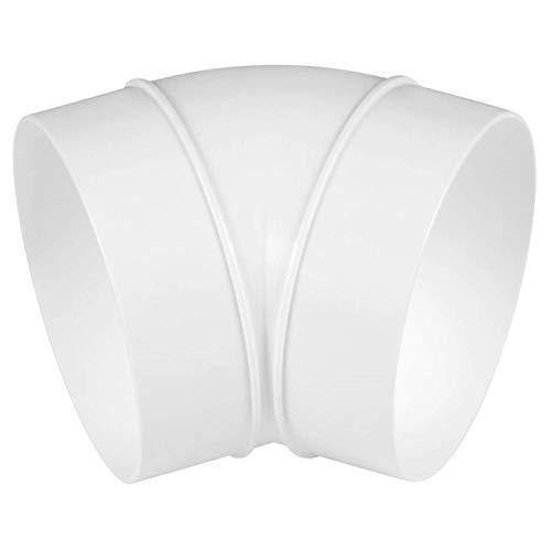Boog buisboog hoek 45° PVC kunststof wit ventilatiebuis ventilatie afzuigkap - VONLIS® Ø 100 mm