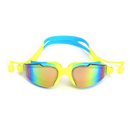 Gafas de Natación Antivaho, Protección UV Gafas para Nadar,Sin Fugas Ajustable Gafas de Buceo, Enchufe de Oído, Funda Protectora, para Hombre Mujere Niño