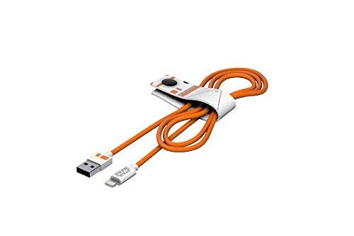 Tribe Star Wars Cavo Micro USB (120 cm) per Trasmissione Dati e Ricarica per Android, Samsung, HTC, Nokia, Sony e Altri - BB8, CMR23004