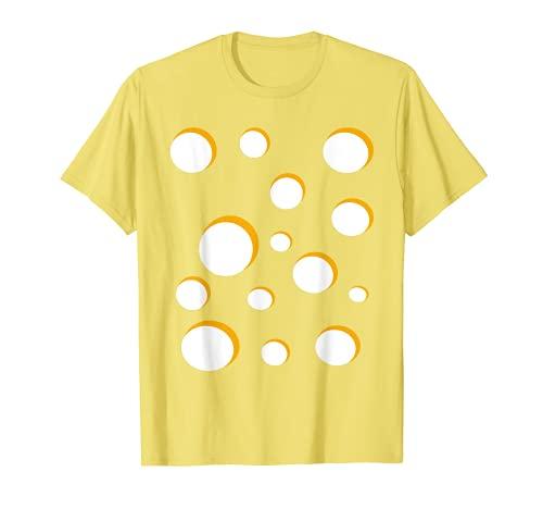 Queso Disfraz Quesería Suiza Gouda Cheddar Halloween Camiseta
