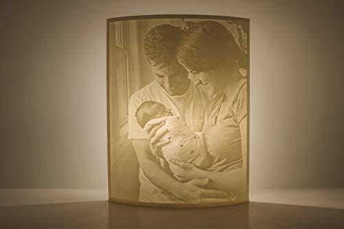 Curved Foto Lampe mit deinen Wunschbildern in 3D