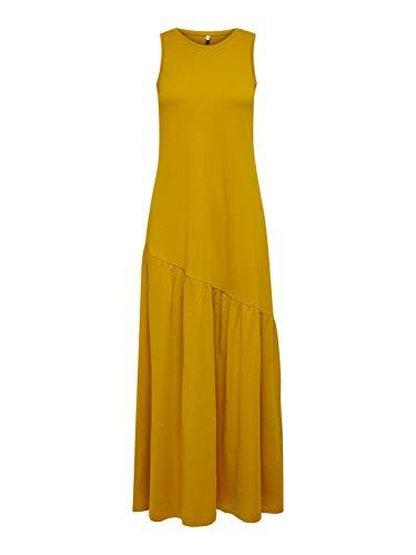 ONLY Damen ONLMAY Life S/L Maxi Volume Dress JRS Kleid, Chai Tea, L
