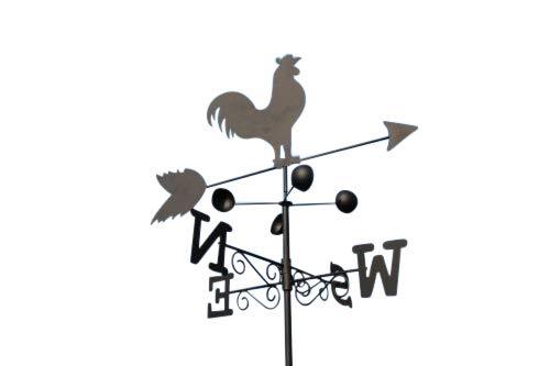 Garden Market Place Wetterfahne aus Stahl mit Erdspieß und Wandhalterung, 170 X 50 X 50CM