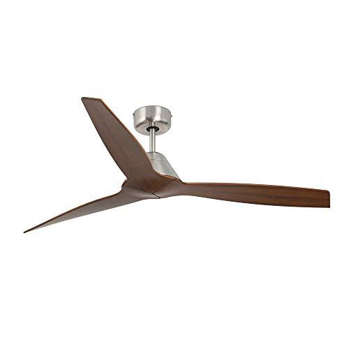 YOSEMITE Ventilador de techo sin luz marrón madera - Motor DC - Ø 132 cm