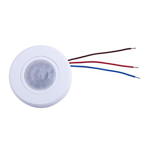 BKAUK 110-220 V Decke PIR Bewegungsmelder Lichtschalter 200 Watt Ultra Slim Infrarot Induktion Einstellen Zeitverz?Gerung Lichtschalter