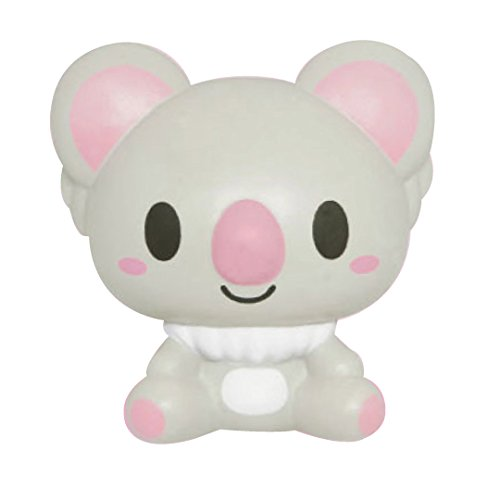 ibloom Koala Cute Animal Slow Rising Squishy Toy (Ludlow, Grey, Caramel Scented, 3.7 Inch) [Kawaii Squishies for Birthday Gift Boxes, Party Favors, Stress Balls for Kids, Girls, Boys, Adults]