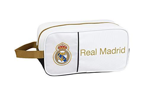 Real Madrid C.F. 811954682, Zapatillero Unisex niños, Blanco, 29x15x14