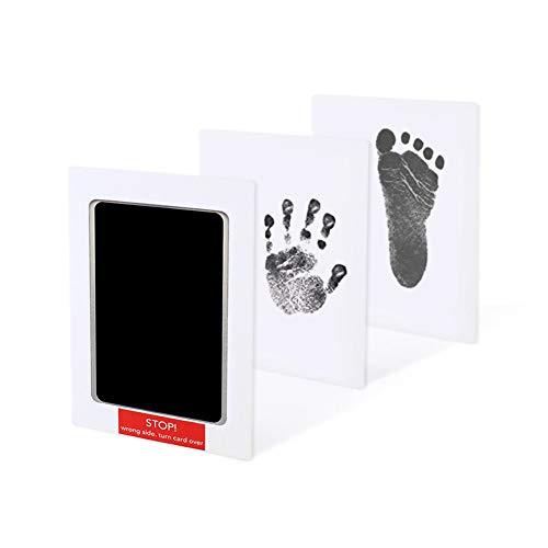 Dsaren Kit de Huellas de Manos Seguras Almohadilla de Tinta para Bebes con 2 Impresión Tarjetas, Perfecto Regalo Ducha