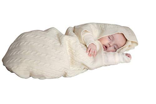 Babydecke aus reiner merino Schurwolle 100x80cm