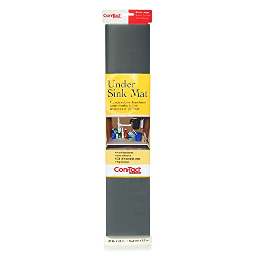 Con-Tact Non-Adhesive Undersink Mat, Graphite