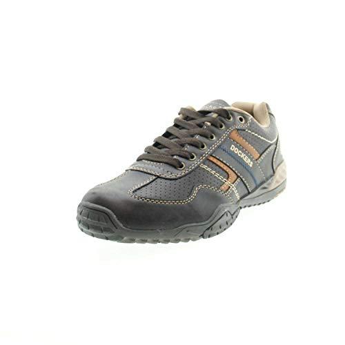 Dockers by Gerli Herren Sneaker Schwarz, Braun, Grau, Weiß, Natur, Schuhgröße:EUR 44, Farbe:Brauntöne