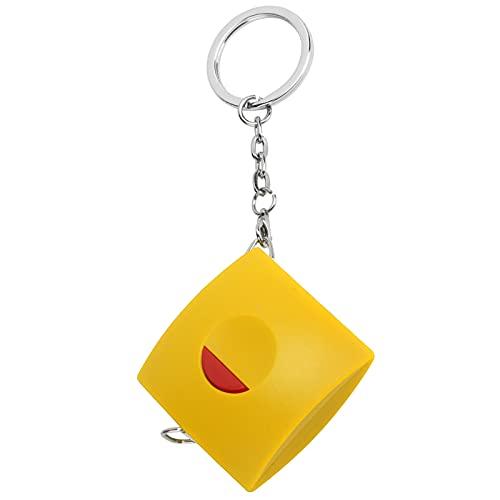 Cinta métrica retráctil, cinta métrica de tamaño pequeño con material de nano síntesis de piel de ganado de PVC para ropa de medida(yellow)