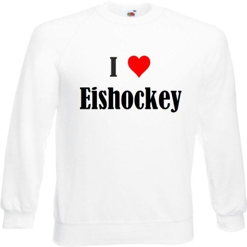 Reifen-Markt Sweatshirt Damen I Love Eishockey Größe XL Farbe Weiss Druck Schwarz
