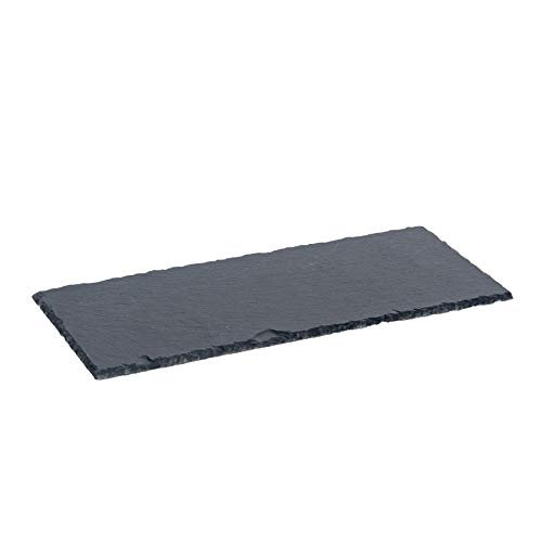 Argon Tableware Starter Serving Slate Side Plate for Food and Antipasti - 290 x 120mm