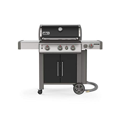 Weber 66016001 Genesis II E-335 3-Burner Natural Gas Grill, Black Assembly Free Gas Grill Grills Natural