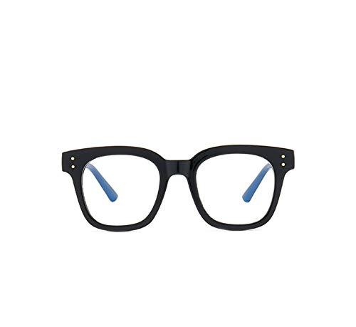 Without Marcos de Gafas Myopia Gafas 2021 Moda Mujeres Hombres Gafas cuadradas Eye Glasse -1-1.5 -2-2.5 -3-3.5 -4.0-4.5 (Frame Color : Black 2.5)
