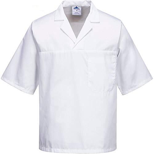 Portwest 2209whrxxl Baker Shirt, kurz Ärmel, Regular, Größe: XXL, weiß