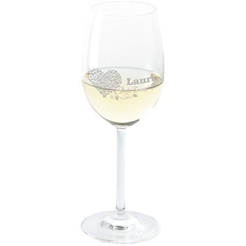 Leonardo Weißweinglas für Deine Trauzeugin: personalisiert mit Namensgravur - Geschenke für Trauzeugen mit Gravur - Weingenießer