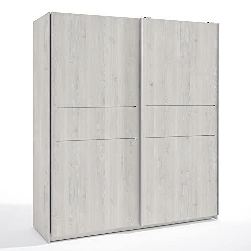 HOMN LIVING Armario ropero Senia 2 Puertas correderas Color Blanco Nordic, 181,5 cm (Ancho) 53,8 cm (Profundo) 200 cm (Altura)