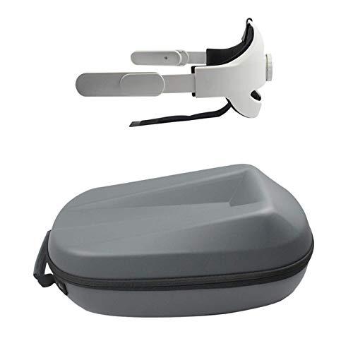 Kopf Riemen für Oculus Quest 2, Reduziere Druck Kopfband Einstellbar Elite Riemen Für für Oculus Quest 2 VR Headset Mit Tragen Hülle - only 1 headband + case
