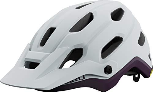 Giro Source MIPS All Mountain 2021 - Casco de bicicleta para mujer, talla M (55-59 cm), color blanco y morado