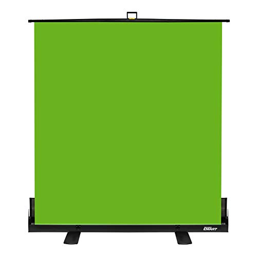 Emart Green Screen, Collapsible Chromakey Panel for Photo Backdrop Video Studio ,Portable Pull Up Wrinkle-Resistant Greenscreen Background, Auto-Locking Air Cushion Frame, Solid Safety Aluminium Base