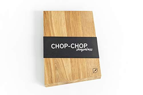 Rio Lindo Schneidebrett Shape 38x28x2cm aus geöltem Eichenholz in Premium Qualität in besonderer Form / 100% Handarbeit/Unikat/nachhaltiges Holzbrett/Servierbrett für die Küche