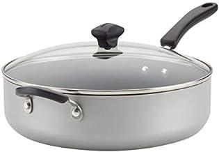 Farberware Cookstart Aluminum DiamondMax Nonstick Jumbo Cooker Chef's Pan, 6-Quart, Silver