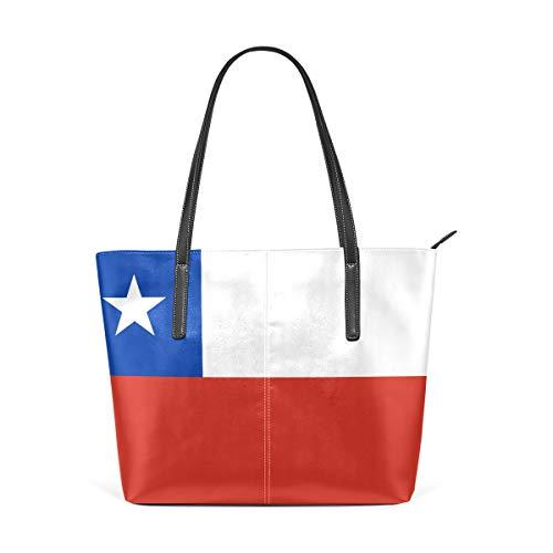 Eslifey Flag Of Chile Flagge von Chile Portemonnaie PU Leder Schulter Tasche Geldbörse für Damen Mädchen Damen