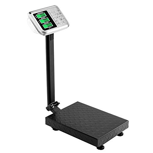 TUFFIOM 220lb Weight Electronic Platform Scale,Digital Floor Heavy Duty Folding Scales,Stainless Steel High-Definition LCD Display, Perfect for Postal Luggage Shipping Mailing Package Price Computing