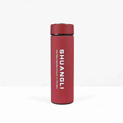 Botella de Agua Deportiva,Prueba de Fugas, Botella Agua Reutilizable para Excursionismo, Ciclismo, Running, Acampada, Gimnasio y Viajes -Vino de Yafei_480ml