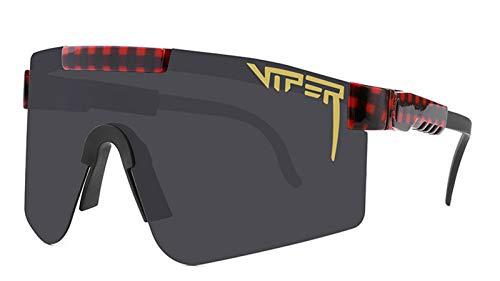 Gafas De Sol Deportivas Polarizadas, Protección UV400 Gafas Deportivas De Pantalla Grande Inquebrantable con Marco TR90 Duradero Liviano, Gafas para Exteriores G