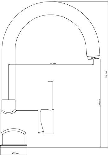 Eisl NI182HACR Grifo para fregadero de diseño modelo Futura C