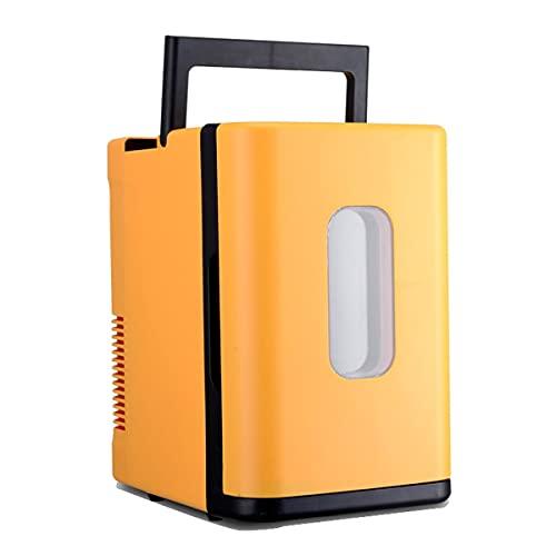 YINGGEXU Mini Nevera Mini 10L Capa Uso en el hogar Mini refrigerador Más frío Calentador Dual Uso de la Caja de Nevera Control de Temperatura 12V / 220V Dormitorio (Color Name : Yellow)