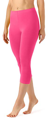 Merry Style Damen Leggings 3/4 aus Viskose MS10-144 (Rosa, XL)