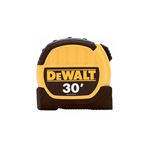 DeWalt DWHT36109 1-1/8' x 30 ft. Standard Tape Measure, Belt Clip, Yellow/Black