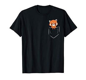 Funny Red Panda In Pocket Cute Animal In Pocket T-Shirt