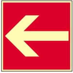Brandschild: Richtingaanduiding HIGHLIGHT PVC 20 x 20 cm Dit bord mag alleen worden gebruikt in combinatie met een ander brandbeveiligingsteken! volgens ASR A 1.3/BGV A8/DIN 4844